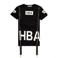 Wholesale Spinal Air - 2016 Men Fashion Hip Hop T- Shirt Zipper Side HBA Hood By Air Harajuku t shirts for men Spinal Cord X-ray Streetwear Tees