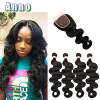 Wholesale Store Promotions - 2017 For Queen Love Pure Color Malaysian Body Wave With Closure Bundle Sale Promotion 8a Virgin With 4 Bundles New Store