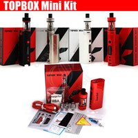 Wholesale E Cig Pro - Top quality Kanger Topbox Mini 75W TC Starter Kit Kangertech KBOX Mini Box Mod Toptank pro Filling Atomizers Vapor mods subox nano e cig DHL