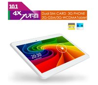 Wholesale Note 3g Gsm Phone - FreeShip Cell Phone Tablets PCs Duad Core 10 Inch Note 3G Phone 2G GSM 3G WCDMA Android 4.4 1.3GHZ 1G 8GB White With FREE Case