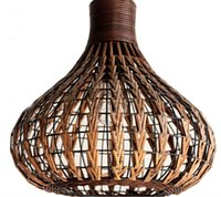 Wholesale Handmade Ceiling Lights - Southeast Asia Rattan garlic Dining Room Ceiling Pendant Lights Handmade Study Room Restaurant Parlor onion Pendant Chandelier Fixtures