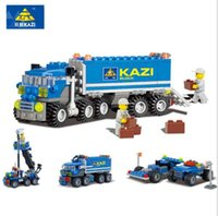 Wholesale Kazi Educational Toys - KAZI 163pcs kids Blocks birthday gift Truck DIY toys educational building blocks brinquedos comptible with legoe city playmobile