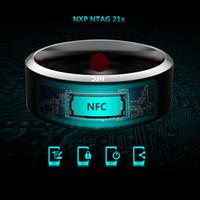 anillos nfc al por mayor-Los anillos inteligentes usan el Jakcom R3 NFC Magic para el iPhone Samsung HTC Sony IOS Android Windows NFC Teléfono móvil