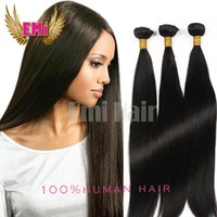 Купить Дешевые Remy Полный Weaves-Дешевые нитки бразильских волос Weave Bundles Unprocessed Virgin Peruvian Indian Malaysian Straight Remy Human Hair Extensions Soft Full