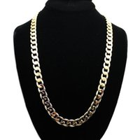 Wholesale Womens Chunky Chain Necklace - 1pc Womens Mens Charms Long 12mm Chunky Gold Silver Long Link Chain Necklace Choker Jewelry