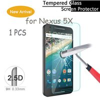 Wholesale Google Guards - Wholesale-Explosion-proof Tempered Glass For Google Nexus 5X Screen Protector For LG Nexus 5X Film Guard 1PCS Free Shipping