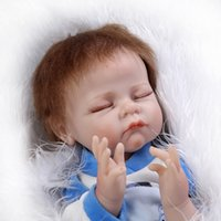 Wholesale Realistic Baby Doll Silicon - New Arrival 22inch NPK Likelife Reborn Doll Fashion Handmade Realistic Silicon Newborn Baby Doll Used As Best Gifts For Children