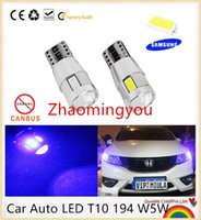 Wholesale W5w Cree Led - 10pcs Car Auto LED T10 194 W5W Canbus 6 smd 5630 cree LED Light Bulb OBC No error led light parking Bulb Lamp Free shipping