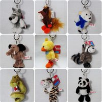 Wholesale Nici Plush Toys - small gifts plush animal toy bag pendant doll key chain with a stamp NICI