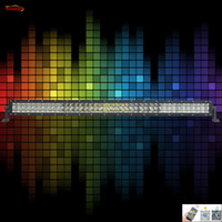 Wholesale Green Atv Light Bar - The Newest Light Sourcing RGB Control By Android IOS App 41.5 Inch White Red Blue Yellow Purple Green 240W Light Bar For Offroad SUV ATV 4*4