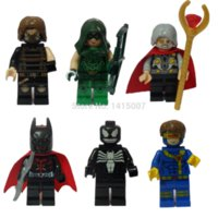 Super Héros de DECOOL Building Blocks Avengers figuresBatman Winter Soldier Flèche Venom Odin Cyclops jouets Scott Summersdiy
