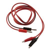 sonda pimleri toptan satış-2x2 timsah klibi bir test probe pim bir muz fiş kablo yol açar kablosu toptan dijital multimetre için Akım