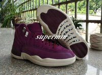 New Air Retro 12 Bordeaux Zapatillas de baloncesto para hombre Zapatillas deportivas Public School PSNY x Retro 12s Wine Red Purple Basket Ball Zapatillas de marca