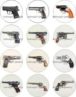 Wholesale pistol jewelry - Free shipping Pistol glass glass Snap button Charm Popper for Snap Jewelry good quality 12pcs   lot Gl313 Jewelry making DIY