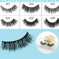 Wholesale Korean Long Hair Styles - 19 Style Natural Makeup 3d Mink Lashes Eyelash Extension Handmade Full Strip Lashes Cruelty Free Korean Mink Lashes False Eyelashes Cross