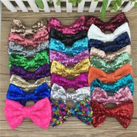 baby girl bows diy 2018 - New desigs 5inch sequin bows Without clips for DIY accessories,big sequin hair bows for baby girls,25pcs lot free shipping