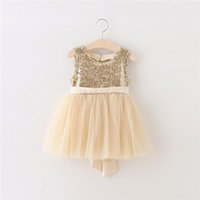 Wholesale Heart Tulle - Big Bow Kids Girls Tulle Lace Dresses Girl Sequined Princess Party Dress Baby girl Summer tutu Heart Dress 2016 Children's clothing