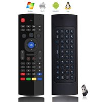 Wholesale mini wireless keyboard gyro - MX3 Multifunction 2.4G Air Mouse Mini Wireless Keyboard & Infrared Remote Control & 3-Gyro + 3-Gsensor W USB Wireless Receiver