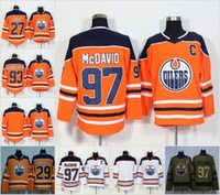 Wholesale cheap hockey jerseys edmonton - 2018 Cheap Edmonton Oilers Jerseys 97 Connor McDavid 99 Wayne Gretzky 27 Milan Lucic 29 Leon Draisaitl Orange White Stitched Hockey Jersey