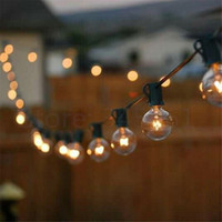 Wholesale patio garden sets - Wholesale- 20 sets Globe 10m G40 String Light Patio Garden Light Strings for wedding dance party Decor with 20 Clear Incandescent bulbs