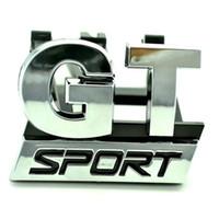 vw grill großhandel-HOT Chrome GT SPORT Frontgrill Grille Abzeichen Emblem fit für VW Golf 6 GT 06-09 Auto-Styling Auto Aufkleber