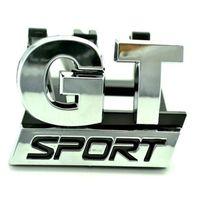 golf ızgarası toptan satış-SıCAK Krom GT SPOR Ön Izgara Grille Rozet Amblem fit için vw Golf MK5 GT 06-09 araba-styling araba çıkartmaları