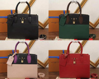 Wholesale Mm Steamer - Women M51035 City Steamer MM Top Handles,Veau Satin Leather,Cowhide Lining,Calfskin Trim,Leather Strap,Come with Dust Bag+Box,Free Shipping
