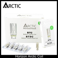 Wholesale Bottom Dual Coil - Horizon Arctic Coil Bottom Turbine Coil Bottom Turbine Dual Coil BTDC Dual Coils 0.2ohm 0.5ohm for Arctic Tank DHL Shipping