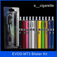 Wholesale Ego Cigarette Blister - Evod MT3 blister kit E-cigarette kit mt3 tanks e cigarette EVOD atomizer Clearomizer Evod battery ego cigarette kit electronic cigarettes