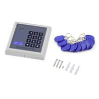 système de contrôle de porte de proximité rfid achat en gros de-DC 12V électronique RFID système de contrôle d'accès de serrure de porte d'entrée de proximité avec 10 porte-clés système de sécurité de bureaux à domicile