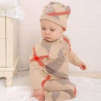 Wholesale Wool Clothing For Babies - High quality Brand Baby Clothes Newborn Spring Autumn Wool Rompers Baby Boys Girls Knitted Rompers For 0-24M