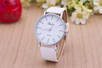 Wholesale Dalas Watches - High Quality Classic Dalas Brand Leather Silver Steel Strap Watches Women Dress Watch Ladies Quartz Watch
