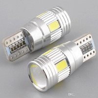 Car Led Light Bulb Canbus T10 5630 6SMD Decode W5W, Lens LED Largura Lâmpada T10 Wedge Luzes Apuramento