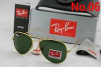 Wholesale Plastic Lenses Glasses - 2017 New Vintage Aviator Sunglasses Pilot RAY 58mm 62mm Men Women UV400 Band Polarized BEN Gafas Mirror Lenses Sun Glasses BANS with cases