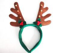 принадлежности для волос оптовых-Мальчики девочки рождественские украшения hairband поставки партии оленьи рога Санта шляпа Рождество шляпа обруч зеленый красный коричневый цвет