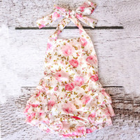 Wholesale Cute Zebra Clothes - High quality Cute Beauty Girl Baby Coverall Bandage Princess Lace Jumpsuits 6 colors For Girls Soft wear for hot Summer Clothing DHL free