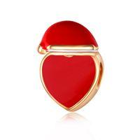 bracelet en or pandora 14k en gros achat en gros de-En gros Perles En Or Charme Européen Charmes Perles Pandora Serpent Chaîne Bracelet De Mode Mignon Rouge Coeur Perles Bijoux DIY