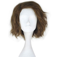 Wholesale Medium Hair Wigs For Men - Synthetic Short Wavy Men Role Play Hair Flax Color Party Movie Cosplay Costume Wig for Halloween