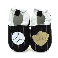 Wholesale Black Baby Feet - 2016 New Baby Walking Shoes Baseball Cartoon Breathable Cotton Fabric Thread Slip-on Toddler Soft Sole Affixed to foot
