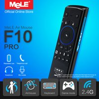 Wholesale Mele Android Tv Box - 2.4GHz Gyro Wireless keyboard MeLE F10 Pro Fly Air Mouse With Microphone Speaker for Android TV Box Notebook
