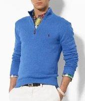 Wholesale Cashmere Sweater Men S - Hot sales 2018 High quality New Zipper sweater Cashmere Sweater Jumpers pullover Winter Men's sweater men brand sweaters