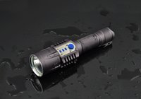 Wholesale Torch High Quality Diving - 1 Set Plastic Case High Quality 5 Modes XM-L2 LED Flashlight Camping Lamp Tactical Hunting Torch USB cable Charging
