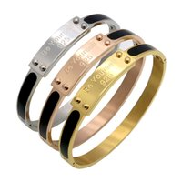 Wholesale branded letters bracelets online - New Fashion Popular Gold Color quot Be Yourself quot Letter Cuff Bracelets Bangles Pulseras Mujer Luxurious Brand Jewelry For Women