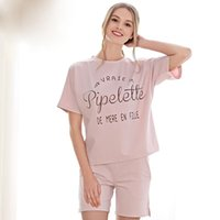 Wholesale Womens Cotton Pajamas Sets - Wholesale- Plus Size Womens Pajamas Set 95% Cotton Nightwear Sexy Women Pajamas Shorts Women Pajama Sets For Women