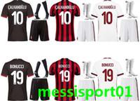Wholesale Black Ac - AC MILAN soccer Jerseys men kits + Socks AC MILAN 17 18 Jersey MENEZ BONAVENTURA BACCA football shirts adult full set