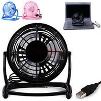 Wholesale Desktop Computer Home Pc - Mini Portable Super Mute Laptop Computer PC Metal USB Cooler Cooling Desktop Fan
