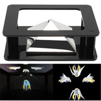 Wholesale 3 inch Mobile Phone Universal HD D Pyramid Holographic Projector Virtual Imaging Technology D Display Showcase