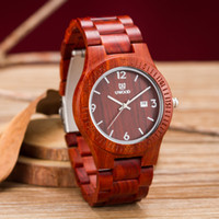 Wholesale Wooden Sandals For Women - Uwood Luxury Brand New Style Red Sandal Wooden Watch Japan Movement Quartz Casual Watches For Men Women Lovers Gift