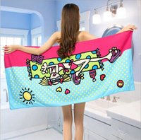 Wholesale Character Beach Towel Wholesale - New Hot super soft Superfine fiber Printed Enlarge Cartoon character beach towel Bath Towels wholesale for Summer 75*150cm dry quickly towel