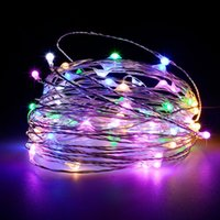 Wholesale Led Curtain Decor For Wedding - 20pcs Decor Silver Wire LED 2M 3M 5M Copper Wire 3AA Battery Operated LED Fairy String Light for Christmas Holiday Wedding Party